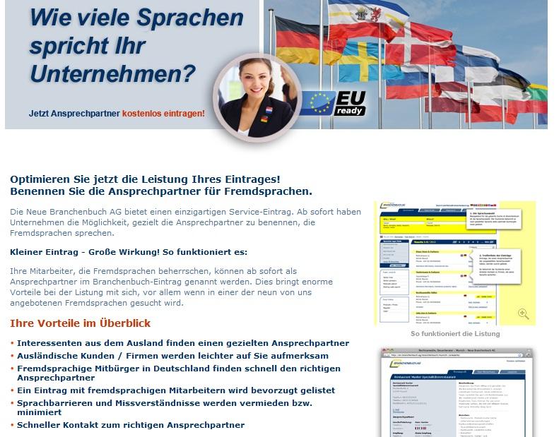 [ NEU! ]: Neue Branchenbuch AG Mehrsprachig!