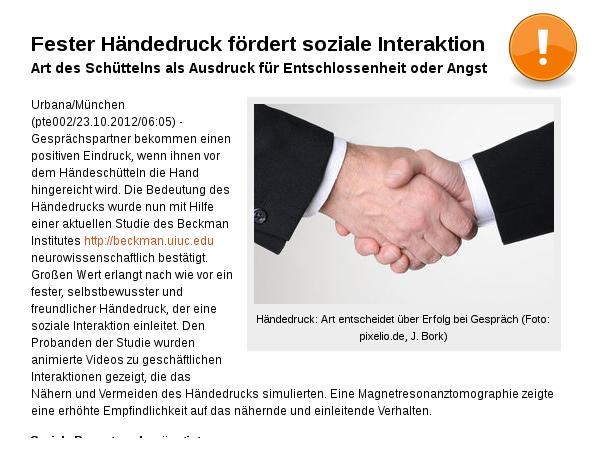"[""PatscheHändchen.!? ]: Fester Händedruck fördert soziale Interaktion!"