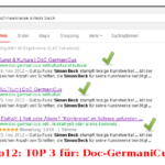 TOP 3 für DoC-GermaniCus.net! (07/12/12)