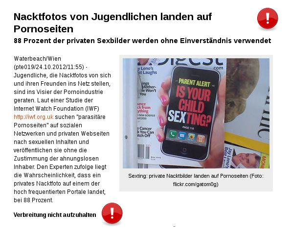 [ PRIVAT.!? } Nacktfotos von Teens landen auf Pornoseiten!
