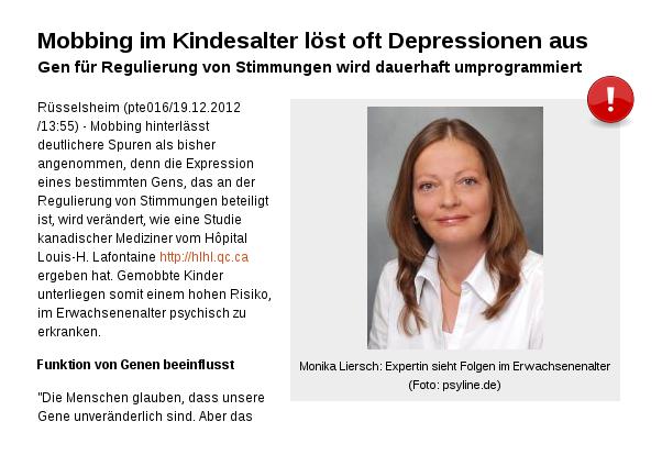 Monika Liersch: Folgen im Erwachsenenalter