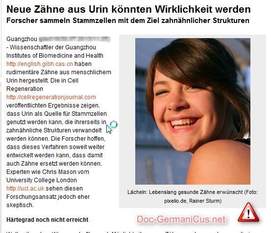[ Pinkel-Zähne.!? } Neue Zähne aus Urin.!?