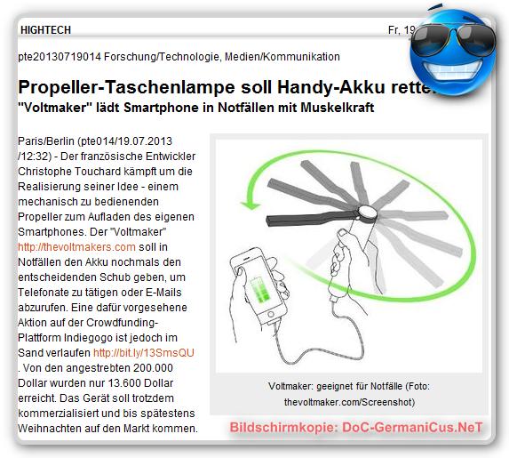 """[ """"Voltmaker""""! } Das Windkraftwerk für die Hosentasche!"""