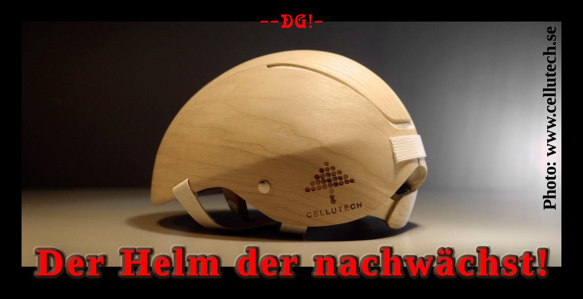 """[ GENIAL! } """"Nachwachsender""""  Sturzhelm aus Holz!"""