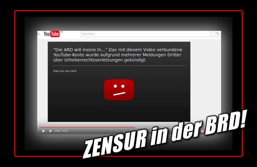 [ GEZ-ZENSUR! }  ARD zensiert unliebsame Beiträge auf Youtube!