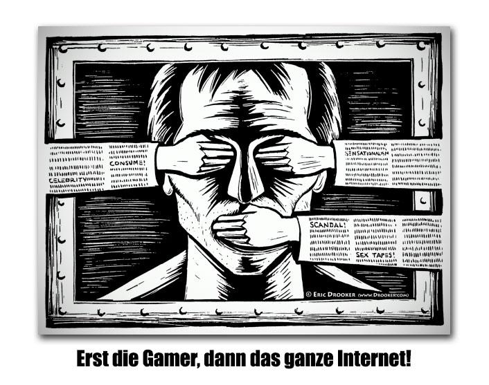 """[ """"Rundfunklizenz!"""" } Finger weg vom Internet, Zensoren!"""