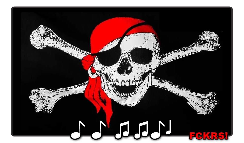Pappkamerad Musik-Piraterie?