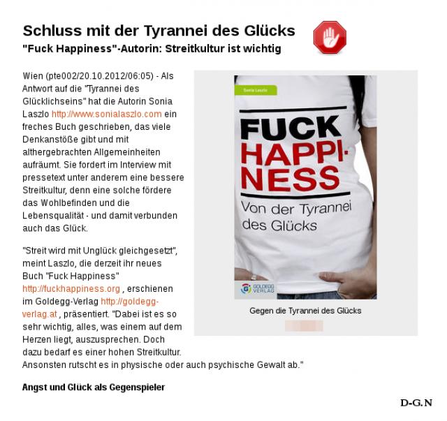 Sonia Laszlo: Fuck Happiness: Von der Tyrannei des Glücks