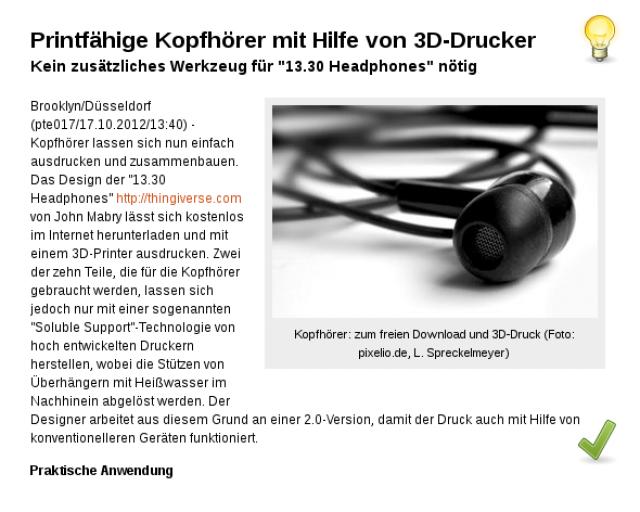 Kopfhörer: zum freien Download und 3D-Druck!
