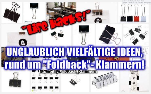 Unglaublich vielfältig! Folderback-Klammern! http://bit.ly/Foldback_Klammern