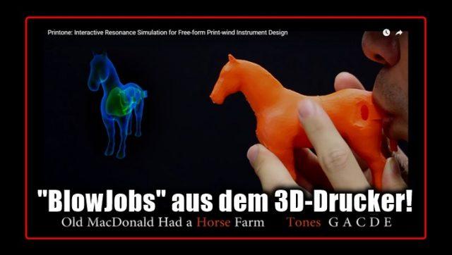 16 Blasinstrumente verschiedener Formen mit dem 3D-Drucker